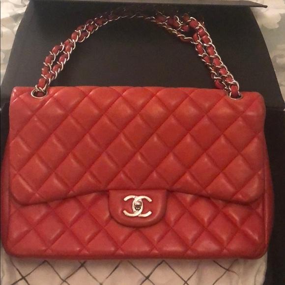 cc73ad684a4392 CHANEL Bags | Redorange Flap Bag | Poshmark